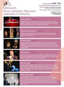 Virtualūs spektakliai ir edukacijos